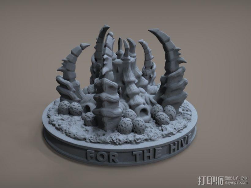 虫族蜂巢模型 3D打印模型渲染图