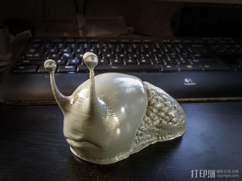 可爱的蜗牛丢了壳 3D打印模型渲染图