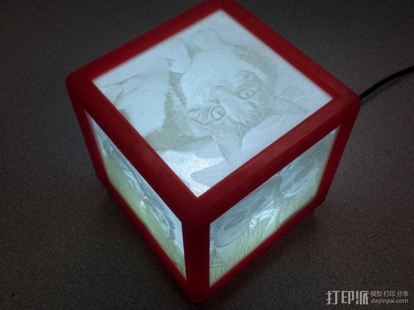 唯美夜灯 3D打印模型渲染图