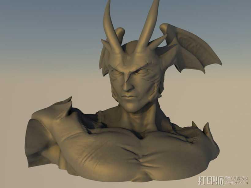 魔鬼人模型 3D打印模型渲染图