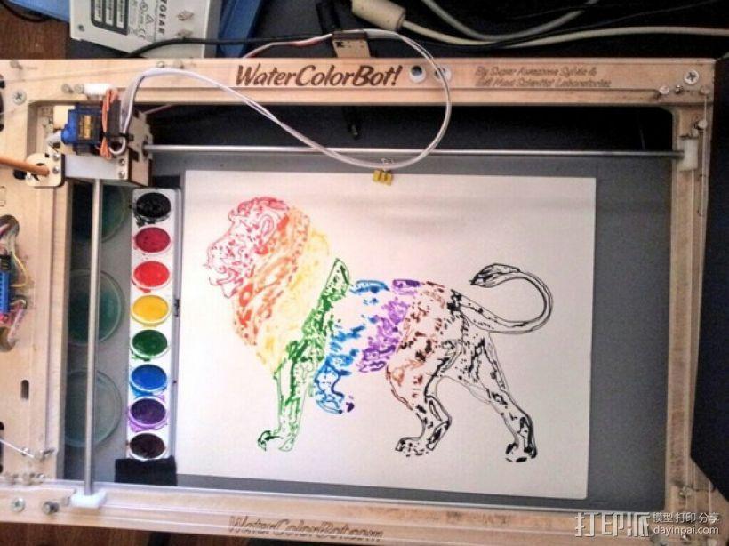彩虹狮子 3D打印模型渲染图