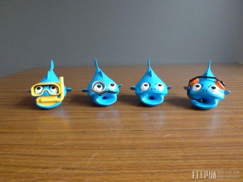 小鱼模型 3D打印模型渲染图