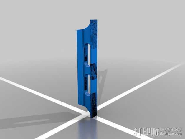 班卓琴调音器 3D打印模型渲染图