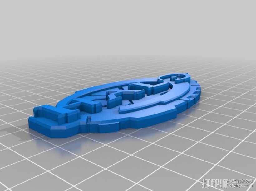 光晕 标志 3D打印模型渲染图