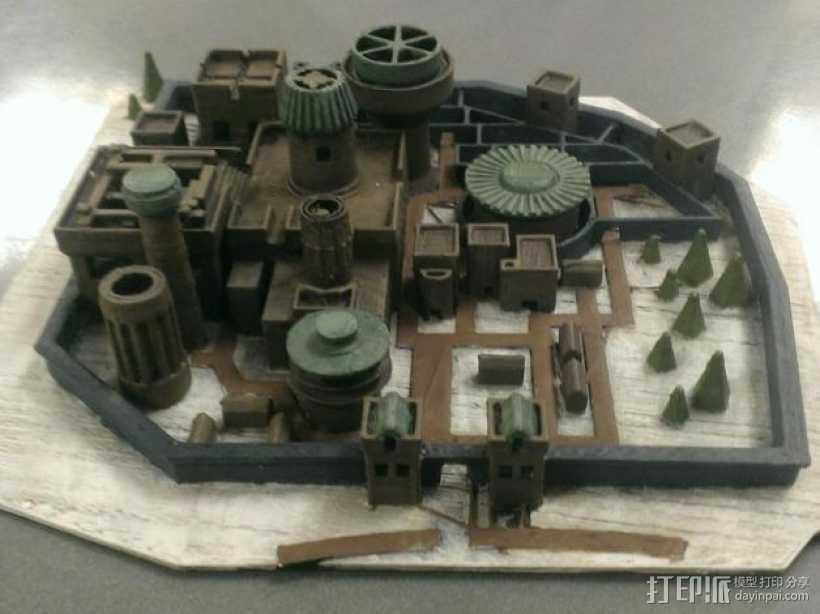 临冬城 建筑模型 3D打印模型渲染图