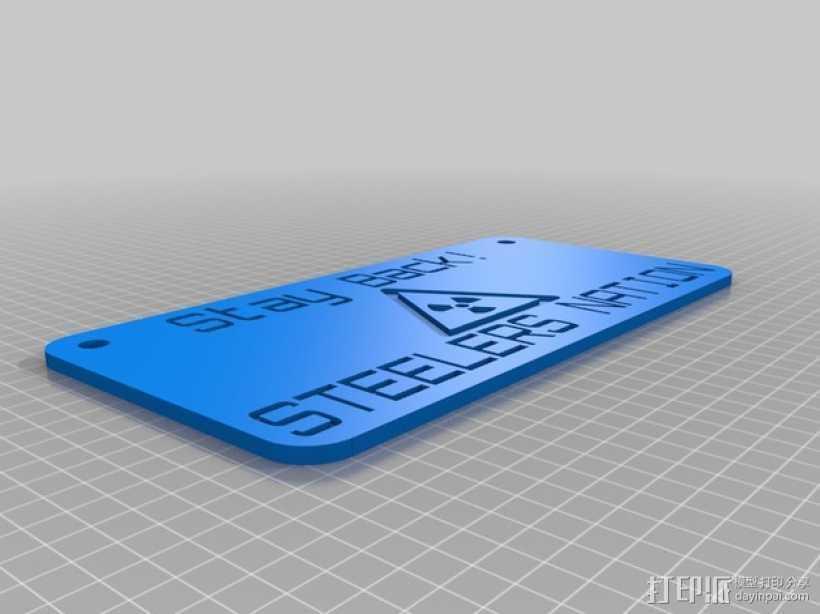 钢铁人 标签 标志 3D打印模型渲染图