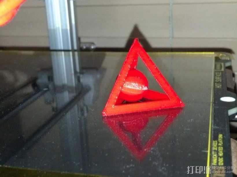 四面体和小球 3D打印模型渲染图