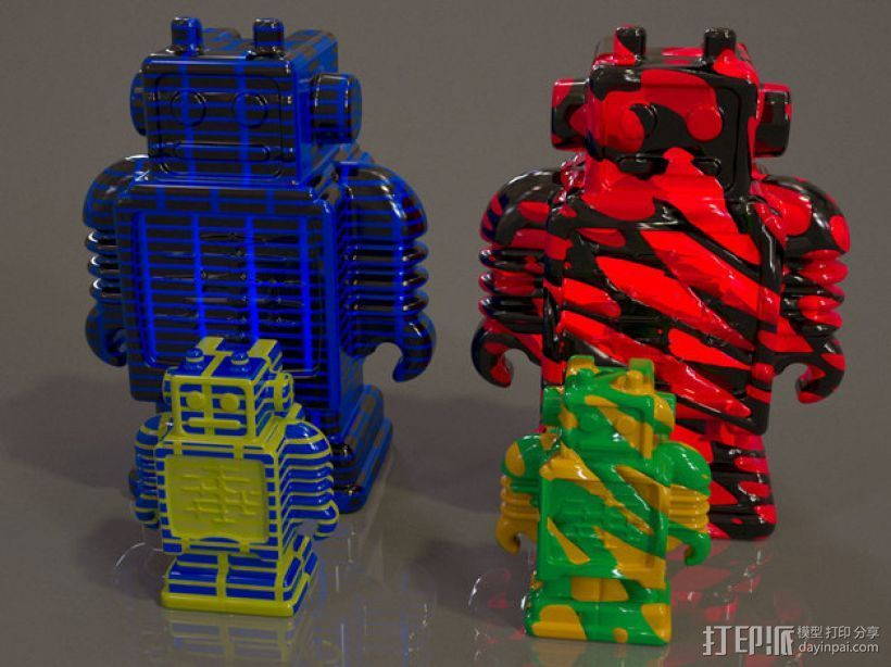 Ultimaker机器人模型 3D打印模型渲染图