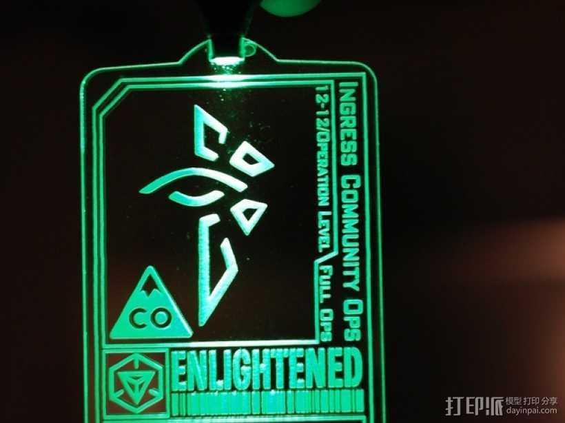 ingress游戏徽章 标志 3D打印模型渲染图