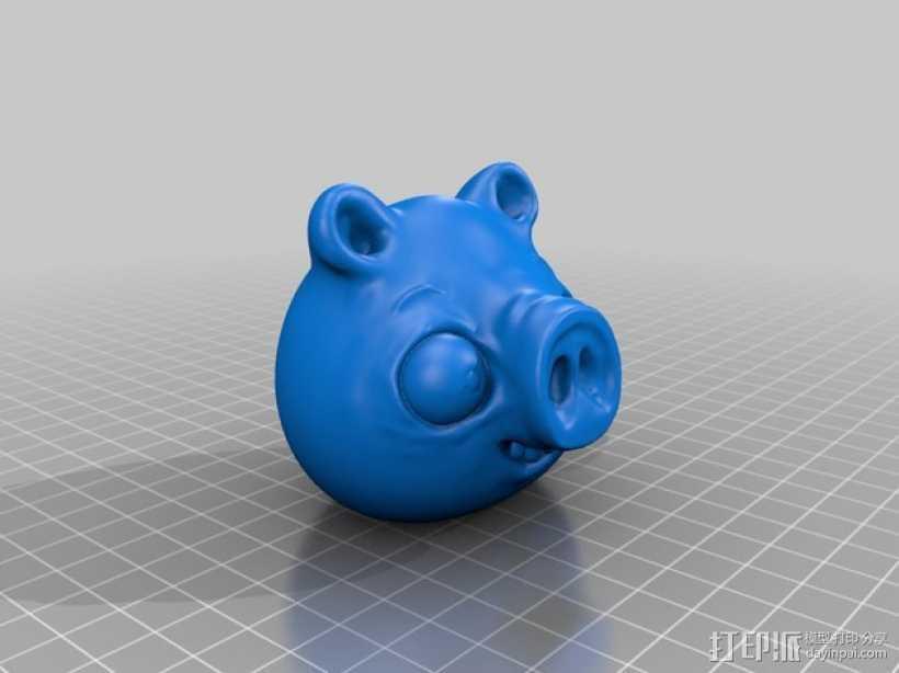捣蛋猪 模型 3D打印模型渲染图