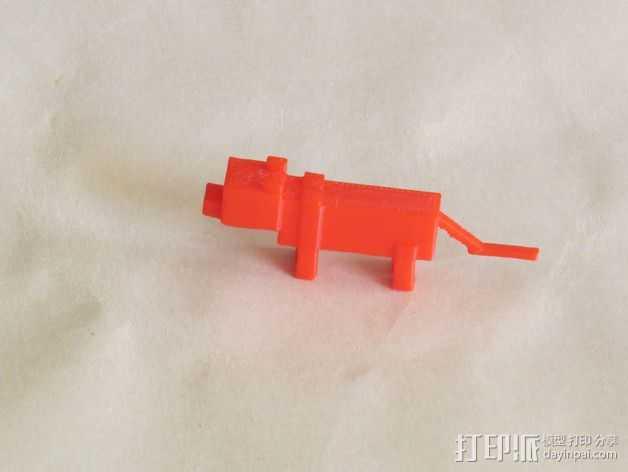 豹猫 模型 3D打印模型渲染图