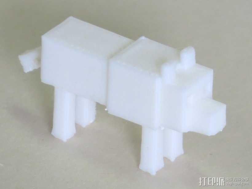 狼模型 像素图模型 我的世界 3D打印模型渲染图