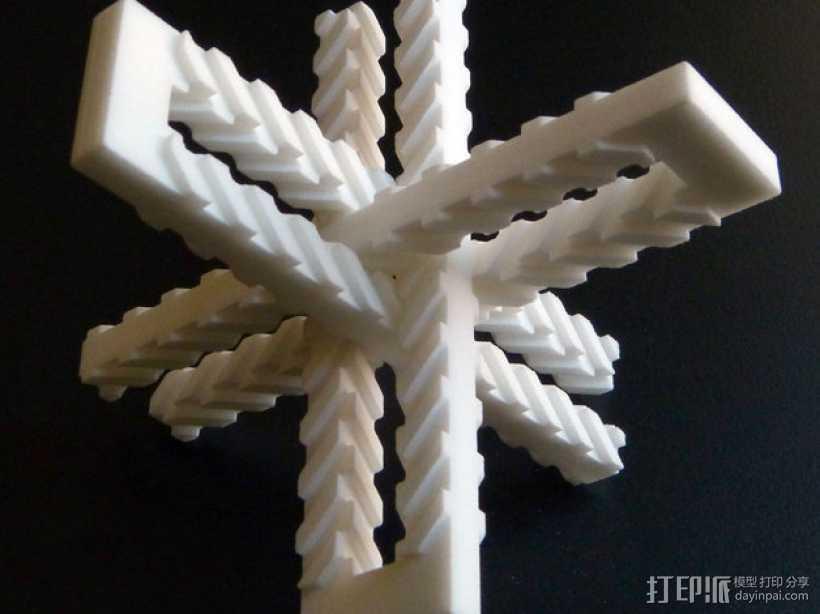 齿形夹 3D打印模型渲染图