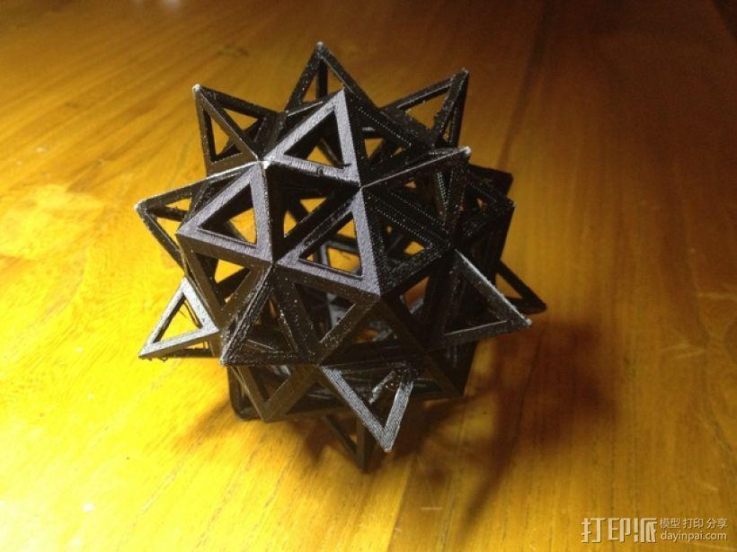 达芬奇多面体 3D打印模型渲染图