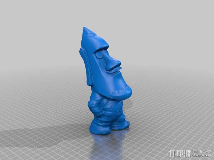摩埃石像模型 小矮人 3D打印模型渲染图
