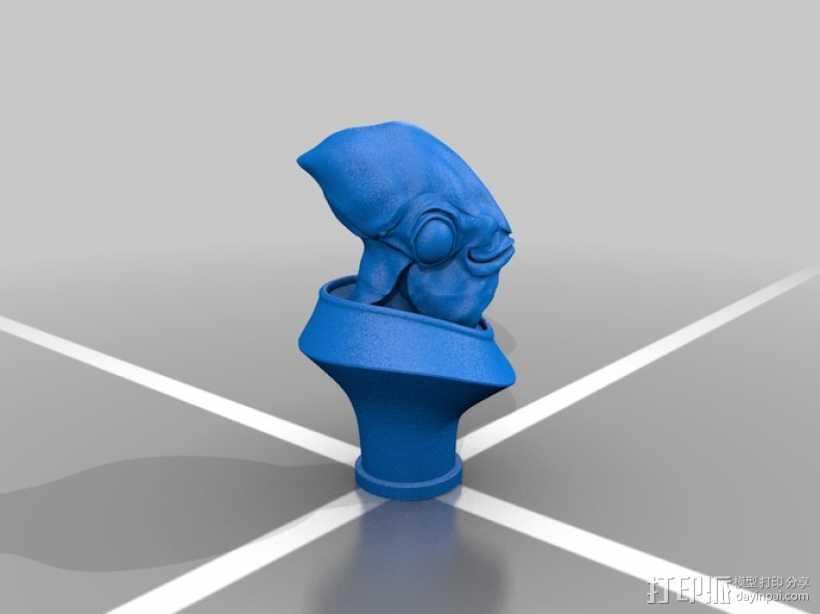 Ackbar半身像模型 3D打印模型渲染图