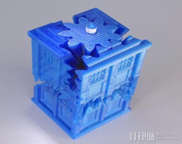 警察亭形齿轮 3D打印模型渲染图