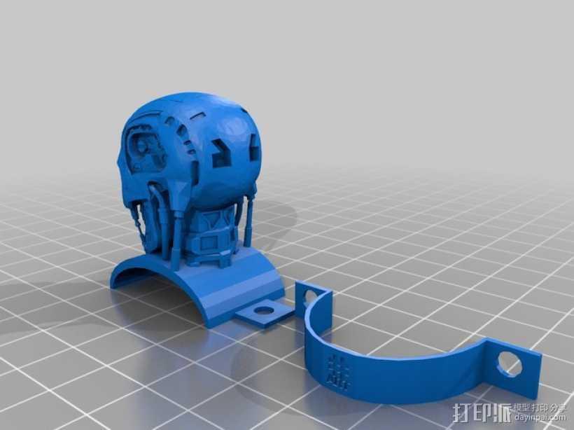 终结者骷髅头模型 3D打印模型渲染图