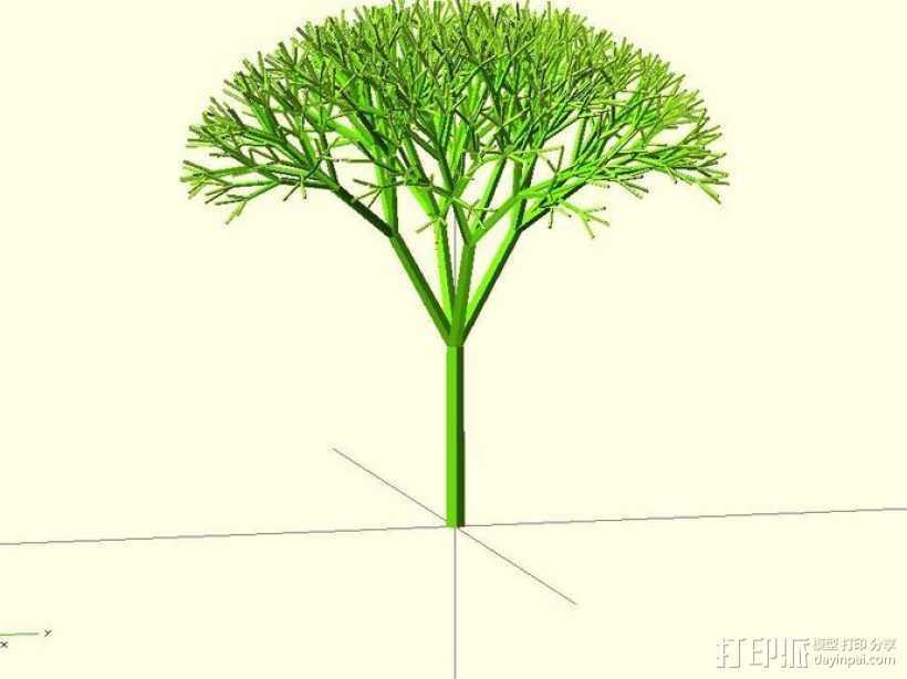 递归树 3D打印模型渲染图