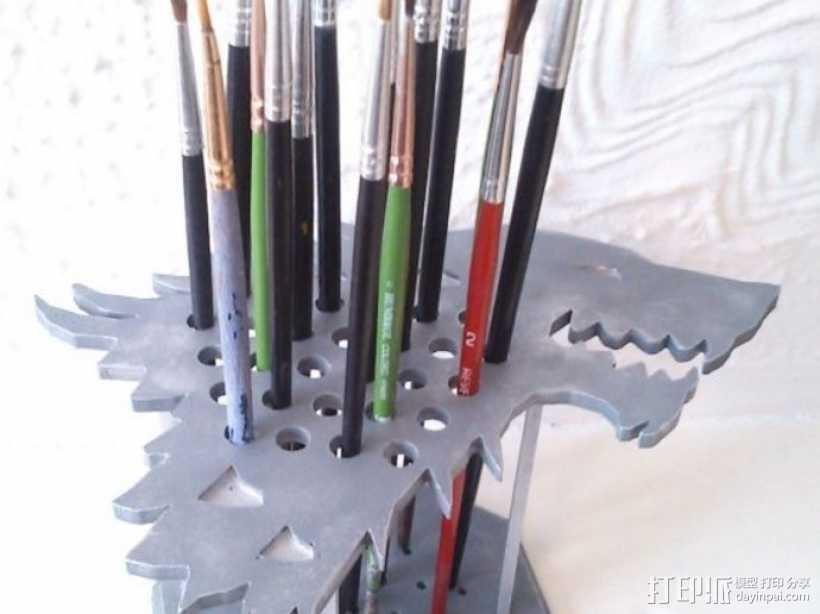 权利的游戏史塔克家族徽章笔筒 3D打印模型渲染图