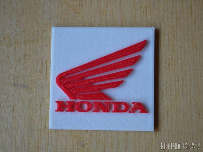 本田摩托车标志 3D打印模型渲染图