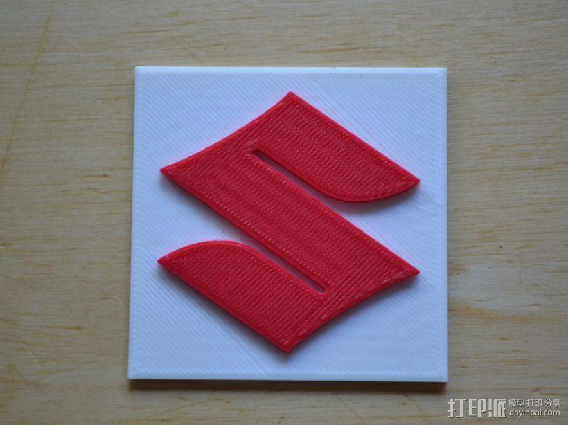 铃木Logo 3D打印模型渲染图