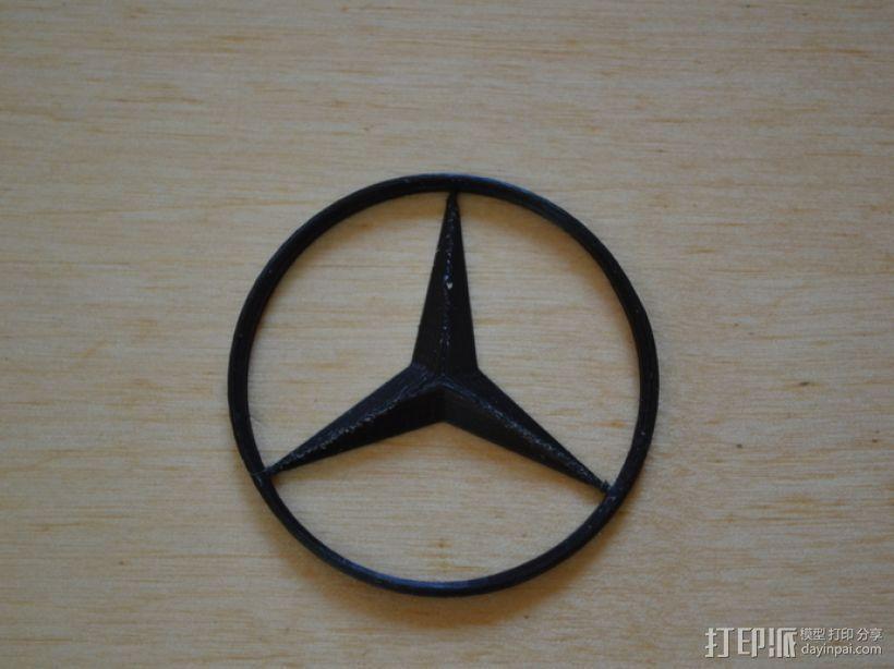 奔驰Logo 3D打印模型渲染图