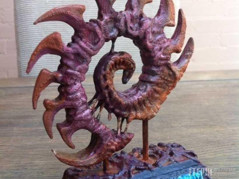 虫族雕塑 3D打印模型渲染图