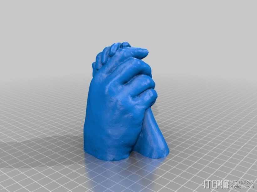 父女之手 3D打印模型渲染图