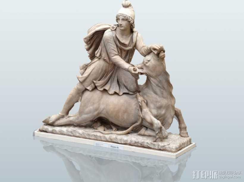 罗马雕塑模型 3D打印模型渲染图