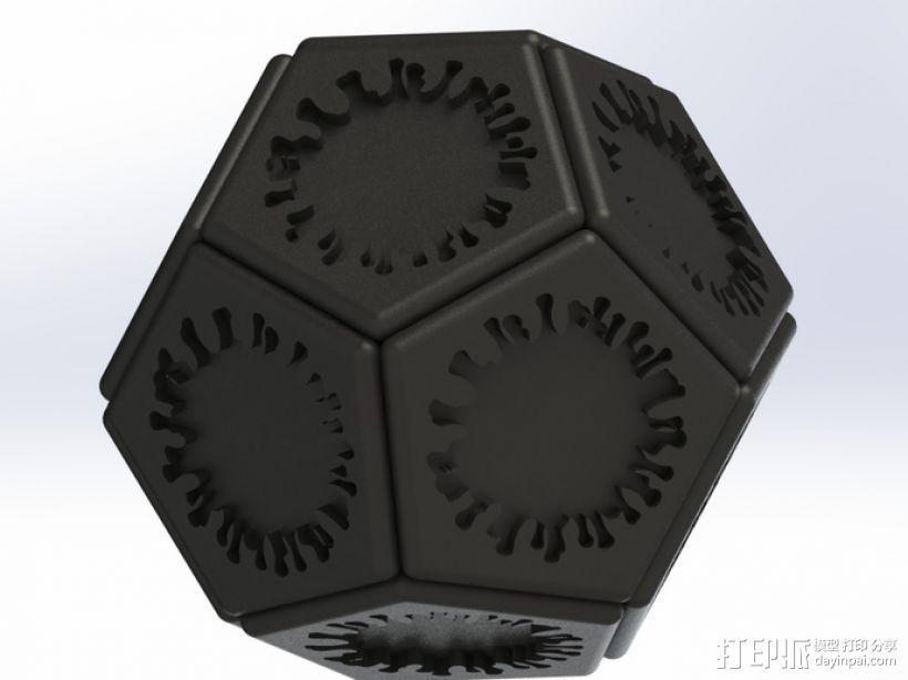 正十二面体 病毒模型 3D打印模型渲染图