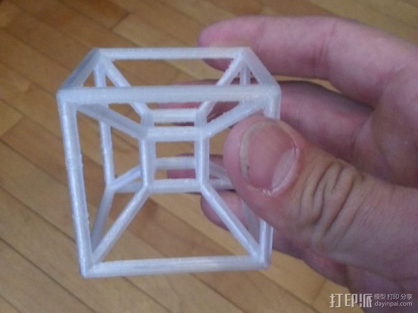四维超正方体 3D打印模型渲染图