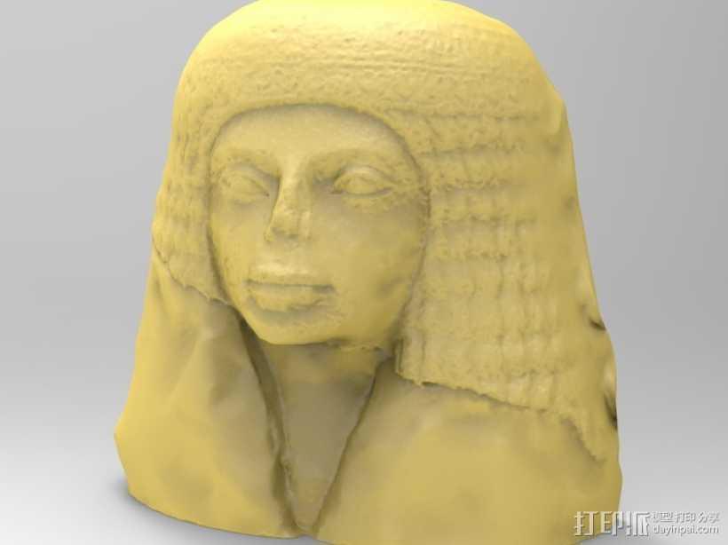 埃及女性头像雕塑 3D打印模型渲染图