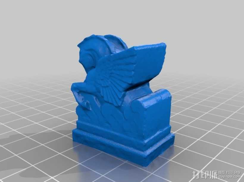 飞马雕塑模型 3D打印模型渲染图
