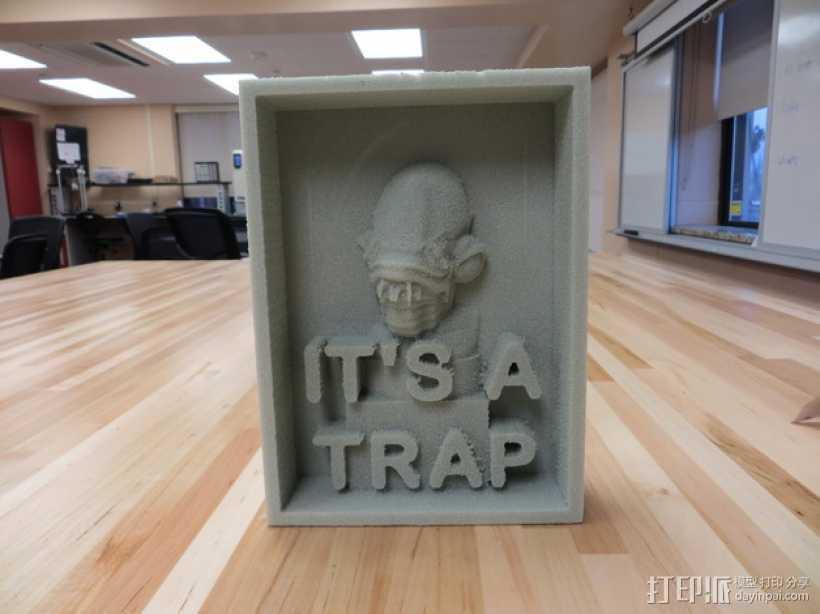 It's a Trap标志 3D打印模型渲染图