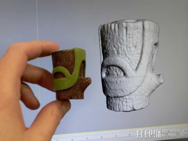 树桩模型  3D打印模型渲染图