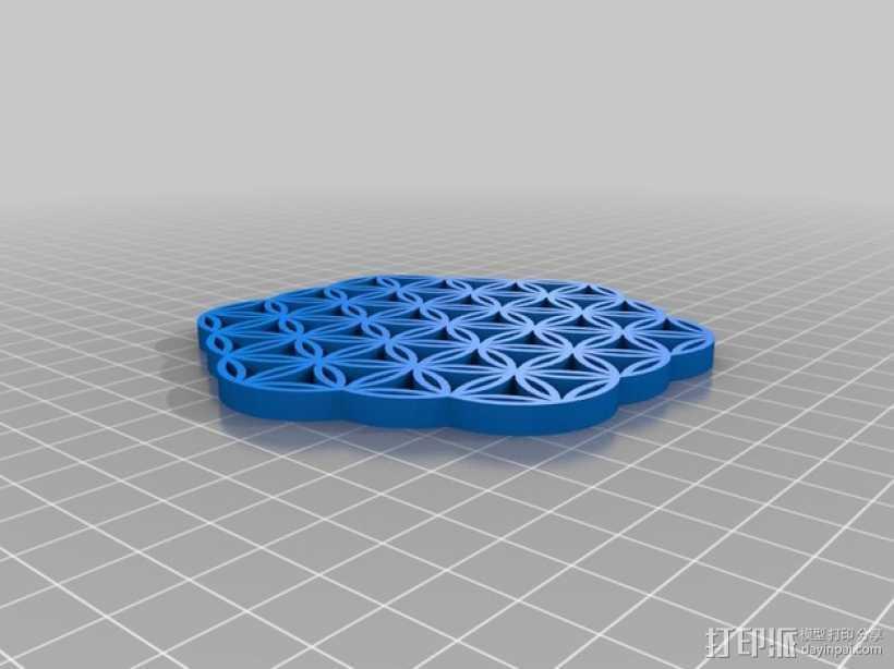 生命之花 3D打印模型渲染图
