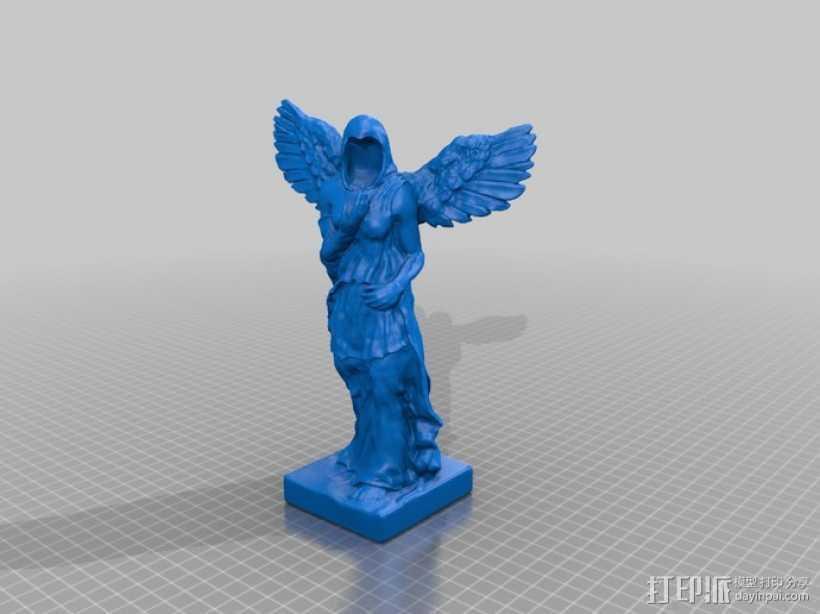 天使雕像 3D打印模型渲染图