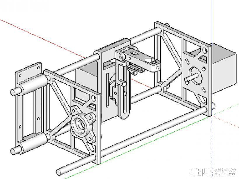 刻字机 3D打印模型渲染图