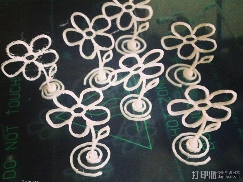 五瓣花 3D打印模型渲染图