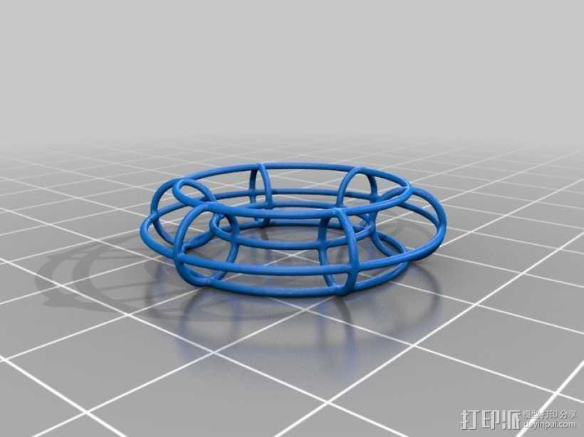 线框式花托 3D打印模型渲染图