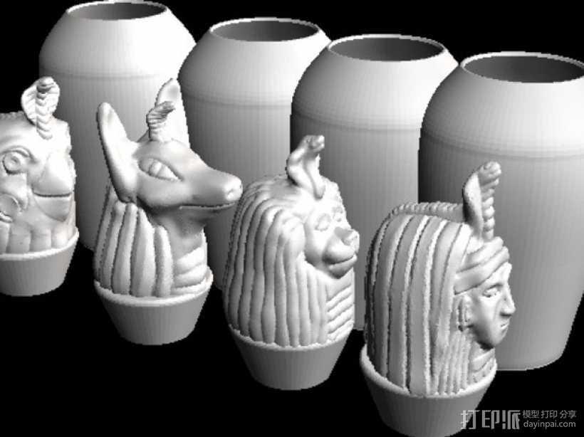 卡诺卜坛 3D打印模型渲染图