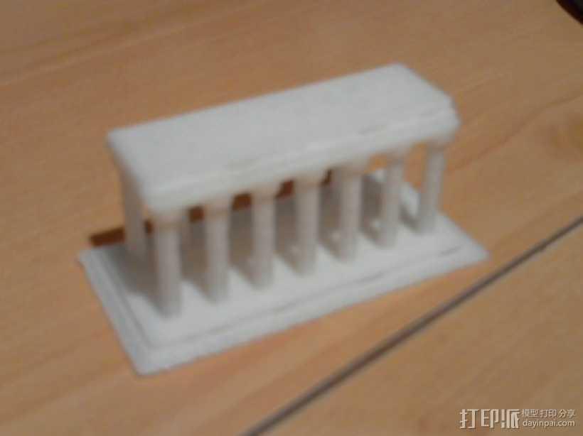 希腊神庙模型 3D打印模型渲染图
