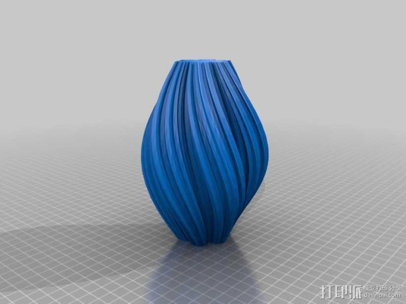 科赫曲线花瓶 3D打印模型渲染图