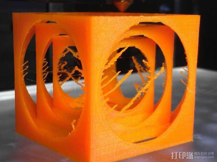 嵌套式立方体 3D打印模型渲染图
