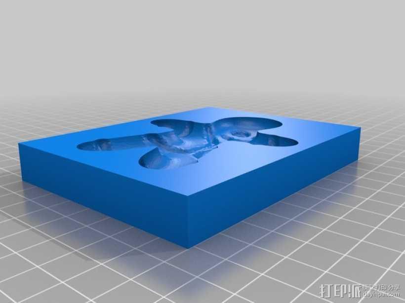 姜饼人模具 3D打印模型渲染图