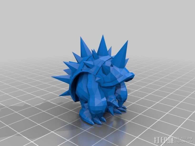穿山铁甲拉姆斯模型 3D打印模型渲染图