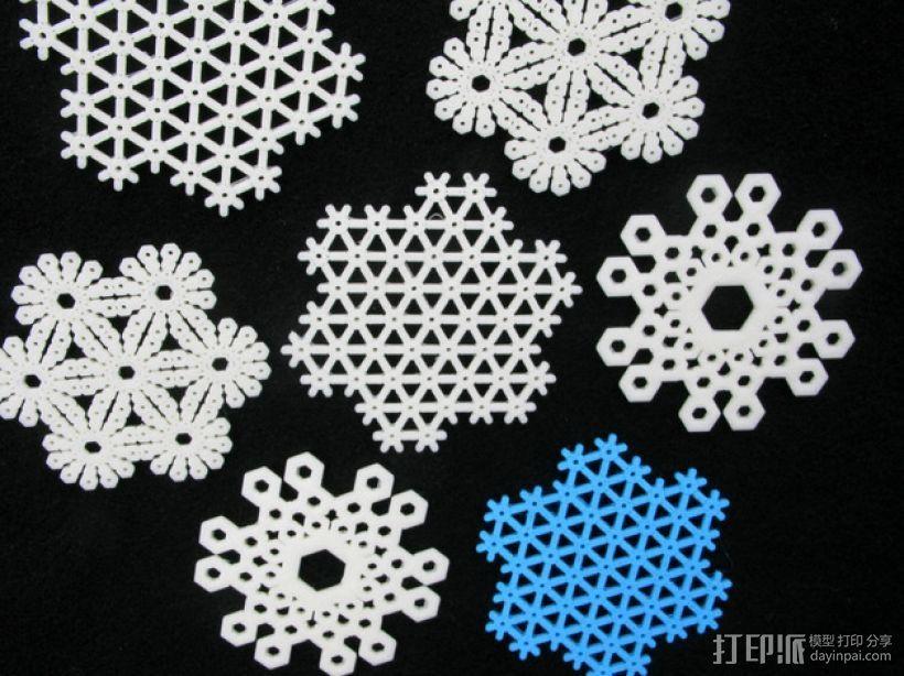 雪花片 晶胞结构 3D打印模型渲染图