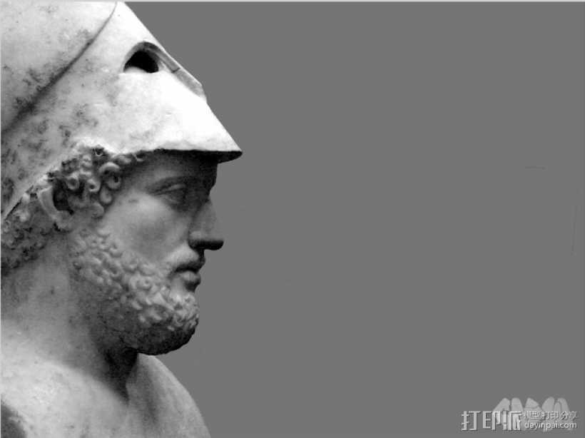 伯利克里雕塑  3D打印模型渲染图