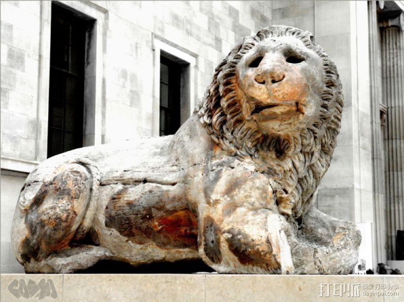 狮子雕塑模型 3D打印模型渲染图